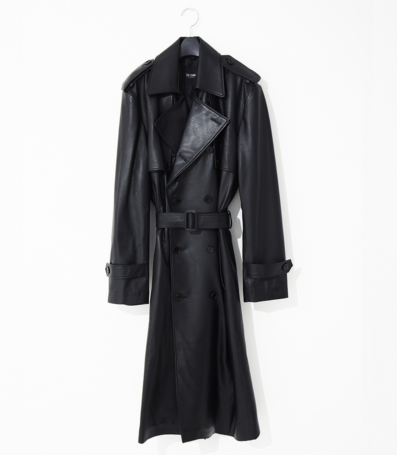 2020-21 F/W NEW COLLECTIONMINIMAL TRENCH LEATHER LONG COAT(기본핏 & 오버핏 - 소가죽 & 양가죽 & 고트가죽)(LT-256)(남성용 + 여성용)