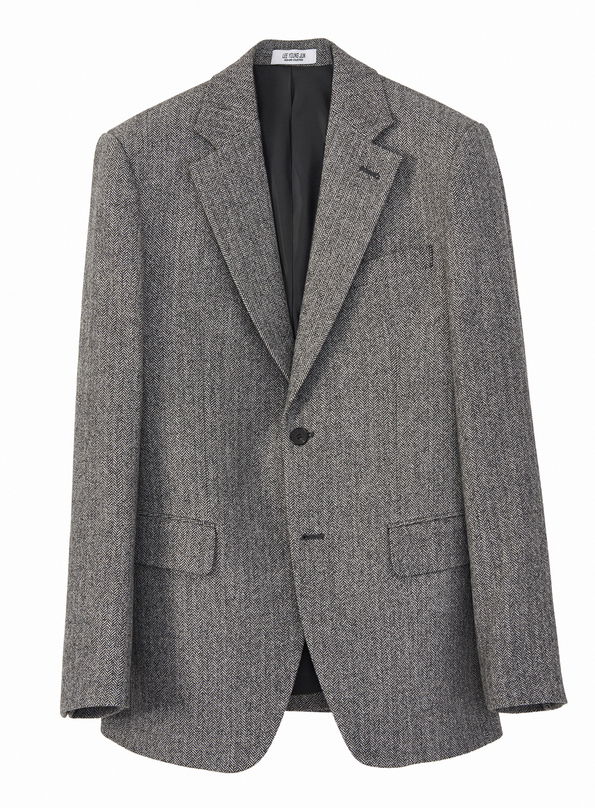 HAND-MADE™ HERRINGBONE SLIM-FIT JACKET( WOOL 100%)(JK-068)