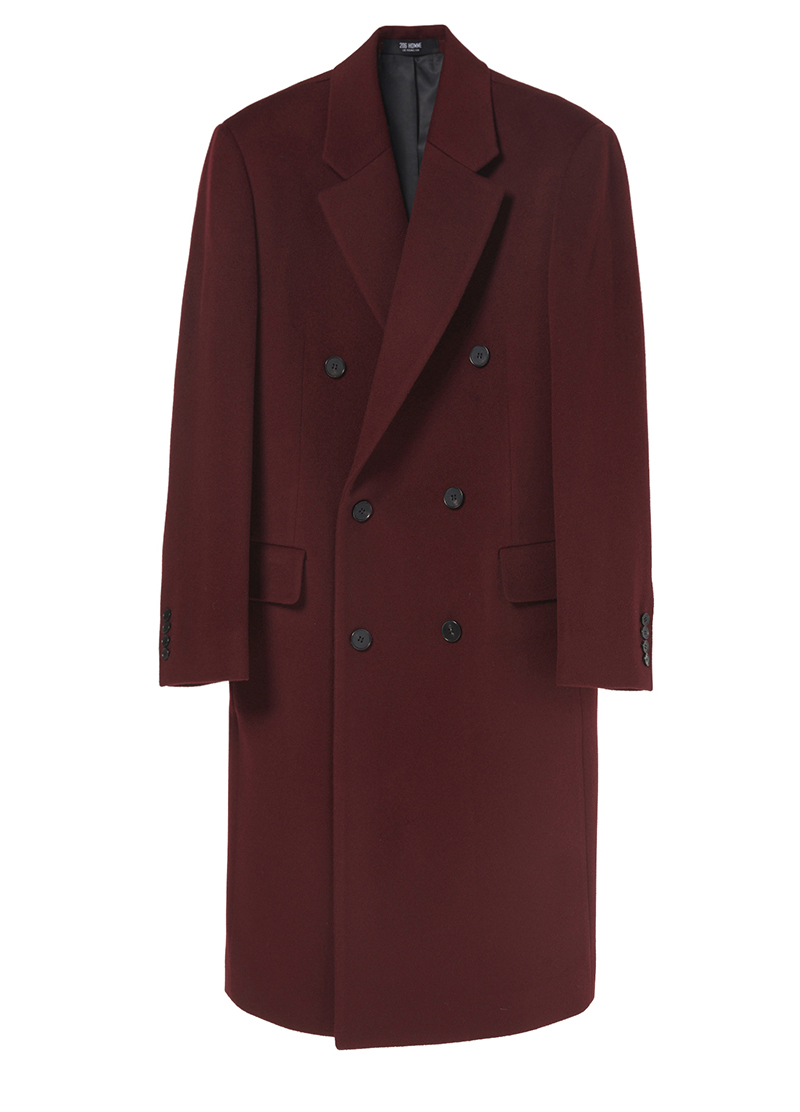 "LUXURY NOTCHED-LAPEL RED-WINE DOUBLE COT(최고급 터치감 울100%)(WOOL 100%)(CT-186)[윤두준 ""라디오 로맨스"" 협찬]"