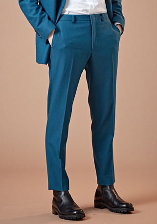 [206 HOMME]2020 S/S NEW COLLECTIONCONTEMPORARY DEEP-MINT WOOL PANTS(최고급 봄 가을용 울100% 원단)(WOOL 100%)(BT-134)