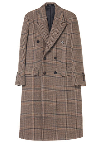 "SPECIAL BEIGE GLEN-CHECK DOUBLE LONG COAT(최고급 터치감 울100% 원단)(WOOL 100%)(CT-208)[김영광 ""Huxley"" 협찬]"