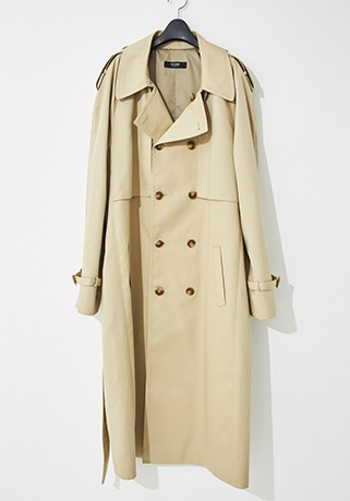 2020-21 F/W NEW COLLECTIONOVER-FIT™ HIGH-END CREAM-BEIGE LONG COAT(오버핏 & 기본핏 - 코튼 100%)(TC-011)(남성용 + 여성용)