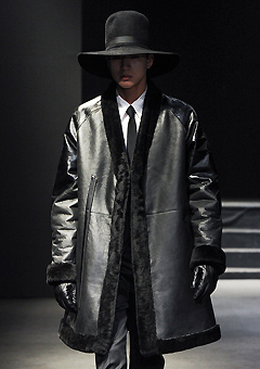 "[206 HOMME]SEOUL COLLECTION""HYBRID""MUSTANG SHAWL-COLLAR HYBRID COAT(ITALY MUSTANG-100%)MAN + WOMAN(LT-105)"