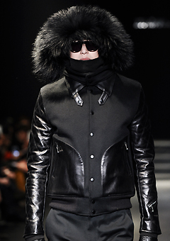 "[206 HOMME]SEOUL COLLECTION ""HYBRID"" RACOON-FUR LEATHER HYBRID JUMPERMAN + WOMAN"